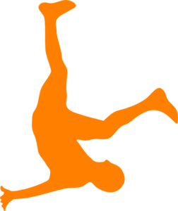 Falling Man In Organge Clip Art