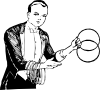 Magician Linking Rings Clip Art