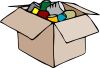 Clothing Carton Box Full Of Socks Clip Art