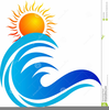 Beach Clipart Ocean Tropical Wave Image