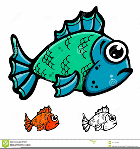 Green Fish Clipart Image