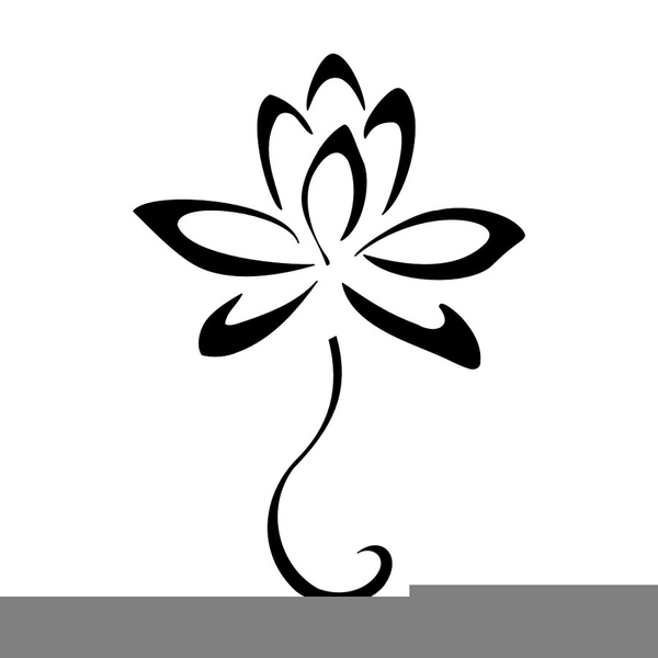 Hawaiian Flower Clipart Black And White Free Images At Clker Com