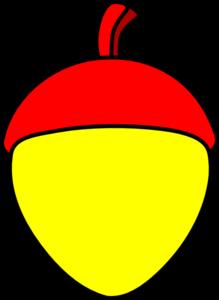 4d9e92619c1 Yellow Acorn With Red Cap Clip Art at Clker.com - vector clip art ...