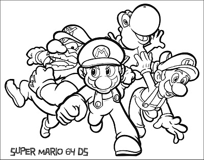 Super mario ds free images at vector clip for Super mario 64 coloring pages