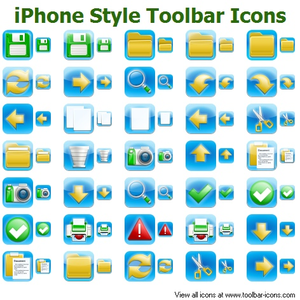 Iphone Style Toolbar Icons Image