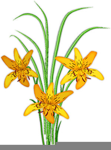 Animated Lilies Clipart Image