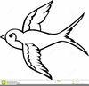Swallow Clipart Black And White Image