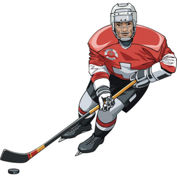 hockey player free images at clker com vector clip art online rh clker com ice hockey clipart images ice hockey player clipart
