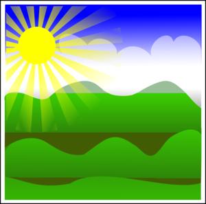 Sun Landscape Clip Art