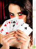 Hands Holding Playing Cards Clipart Image
