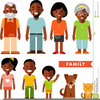 African American Parents Clipart Image