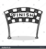 Race Finish Line Clipart Image