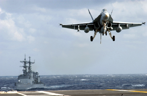 Hornet From Strike Fighter Squadron One Nine Five (vfa 195) Assigned To Carrier Air Wing Five (cvw 5) Image