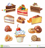 Cakes And Pastries Clipart Image