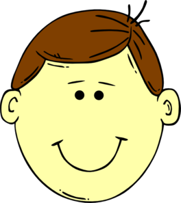 Brown Headed Boy Clip Art