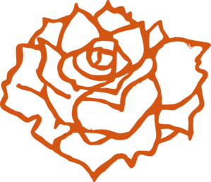 Burnt Orange Rose Clip Art