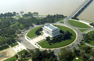 Aerial View Of The Lincoln Memorial In Downtown Washington, D.c. Image