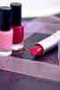 Cosmetics Lipsticks Nail Polish Image