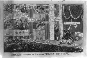 Wolves Triumphant Or A Fig For Public Opinion  / R C [cruikshank]. Image