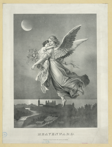Flying Angel Carrying Baby Night Image