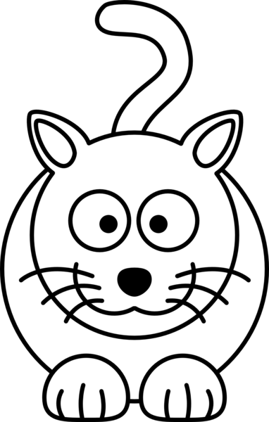 Cat black white line art coloring book colouring drawing px image