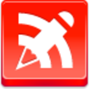 Free Red Button Icons Blog Writing Image