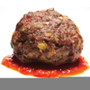 Meatball Sandwich Clipart Image