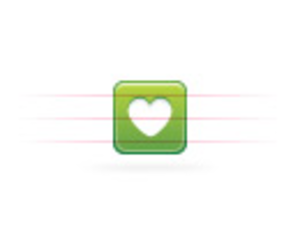 Moi   Button Green   Heart Image