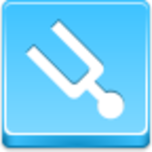 Free Blue Button Icons Tuning Fork Image