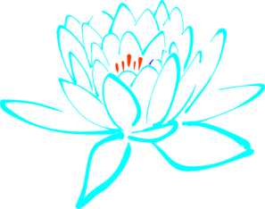 Blue-orange Lotus Clip Art