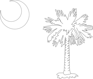 Palmetto Tree White  Clip Art