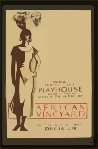 Wpa Federal Theatre Playhouse, Tulane And Miro, World Premiere Of  African Vineyard  By Gladys Unger & Walter Armitage Clip Art