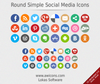 Round Simple Social Media Icons Image