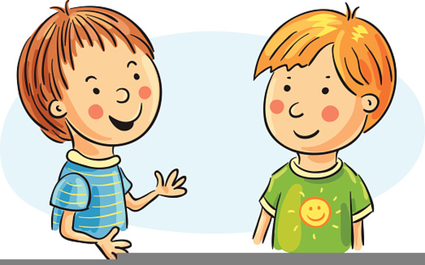 Love Each Other Clip Art: Students Talking To Each Other Clipart
