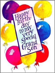 Happy Birthday Grandson Clipart Image