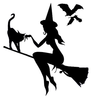 Free Clipart Wiccan Witch Familiar Image