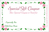 Free Mothers Day Gift Certificate Clipart Card Image