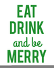 Eat Drink And Be Merry Clipart Image