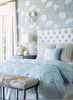 Turquoise Bedroom Wallpaper Image