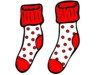 Red And White Spotty Socks Image