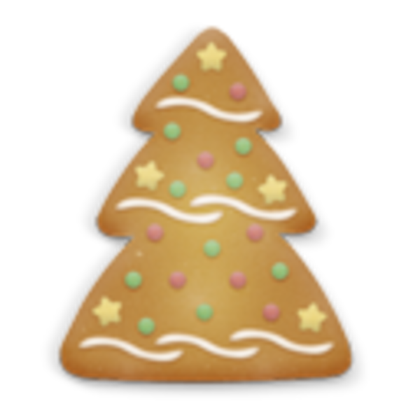 Christmas Cookie Tree Icon | Free Images at Clker.com ...