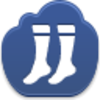 Free Dark Blue Cloud Socks Image