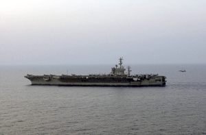 Uss Nimitz (cvn 68) Conducts Flight Operations As Part Of Her Mission For Operation Iraqi Freedom Image