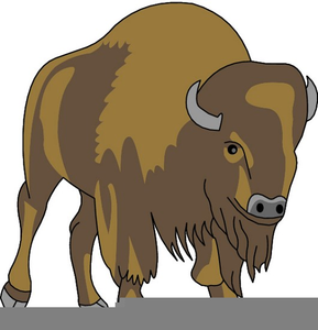 charging buffalo clipart free images at clker com vector clip rh clker com buffalo clipart free buffalo clipart images