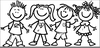 Preschool Black And White Clipart Image