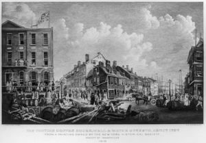The Tontine Coffee House, Wall & Water Streets, About 1797  / W.m. Aikman, Sculpt ; Francis Guy, Pinxt. Image