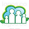 Royalty Free Vector Of An Eco Family And Leaves Logo By Lal Perera Image