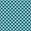 Teal Satin Hearts Background Seamless Image