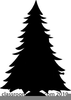 Clipart Evergreen Tree Silhouette Image