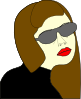 Russian Spy Girl Clip Art